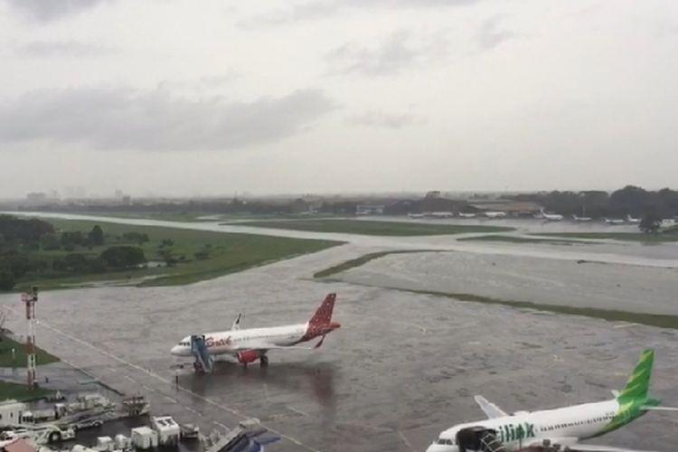 Bandara Halim Perdanakusuma, Rabu (1/1/2020) pagi.