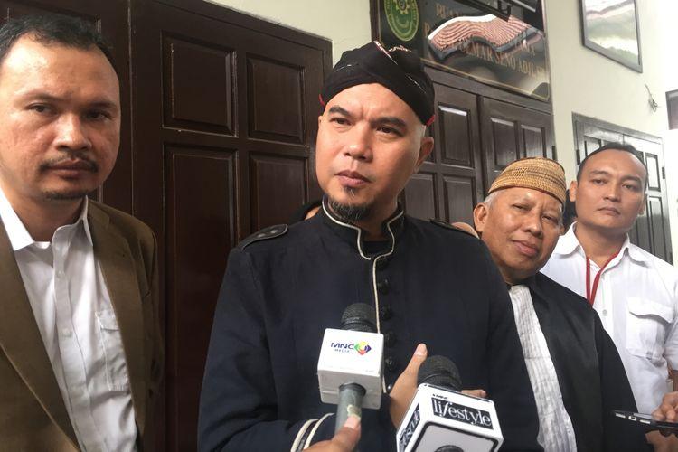 Ahmad Dhani menghadiri sidang kasus dugaan ujaran kebencian di Pengadilan Negeri  Jakarta Selatan, Senin (2/7/2018).