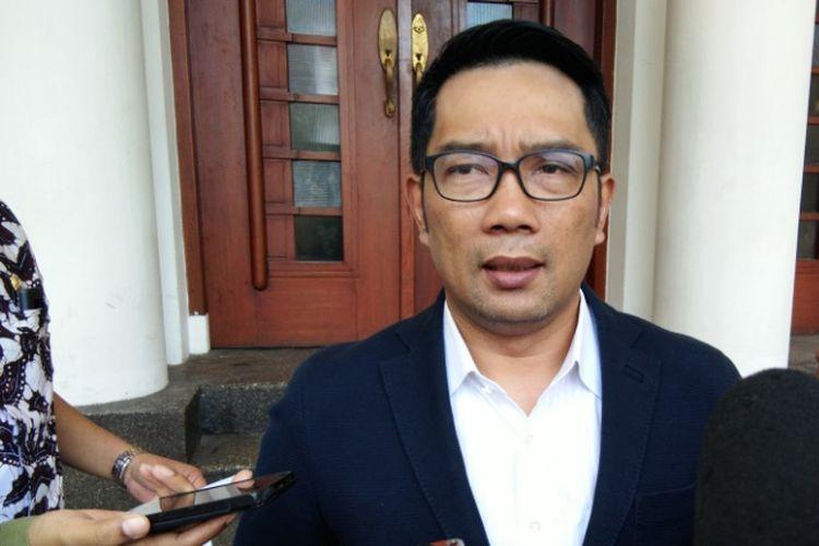 Kandidat Gubernur Jawa Barat Ridwan Kamil saat ditemui wartawan di Balai Kota Bandung, Jalan Wastukancana, Kamis (5/7/2018).