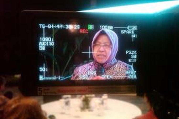 Wali Kota Surabaya Tri Rismaharini. Gambar diambil pada Jumat (14/11/2014)