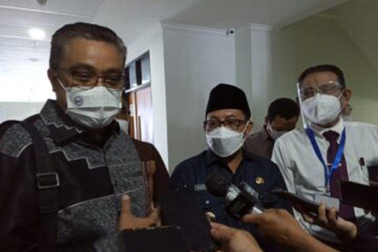 Wakil Ketua Komisi X DPR RI Dede Yusuf usai meninjau pelaksanaan UTBK di UB Malang, Senin (12/4/2021).