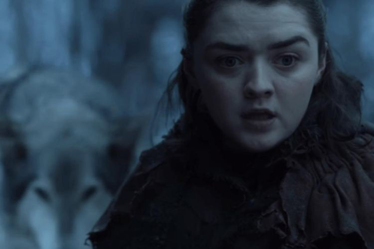 Maisie Williams sebagai Arya Stark dalam Game of Thrones.