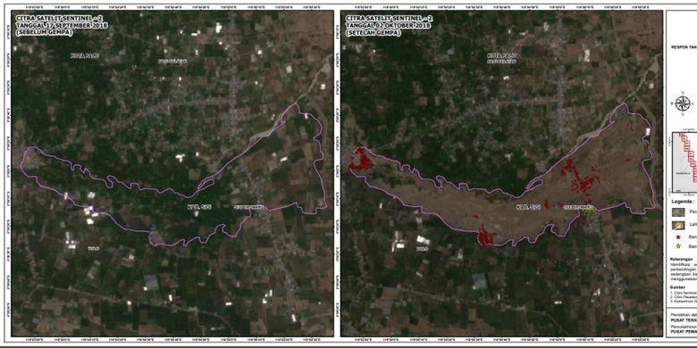 Wilayah Jono Oge, Sigi yang terdampak Likuifaksi
