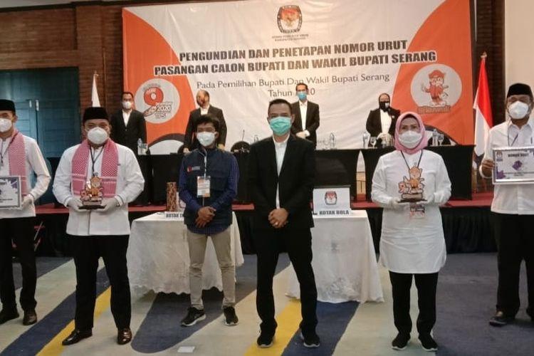 Dua paslon Pilkada Kabupaten Serang