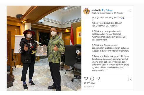 Anies Bertemu Skateboarder: Tidak Ada Larangan Bermain Skateboard di Trotoar Jakarta