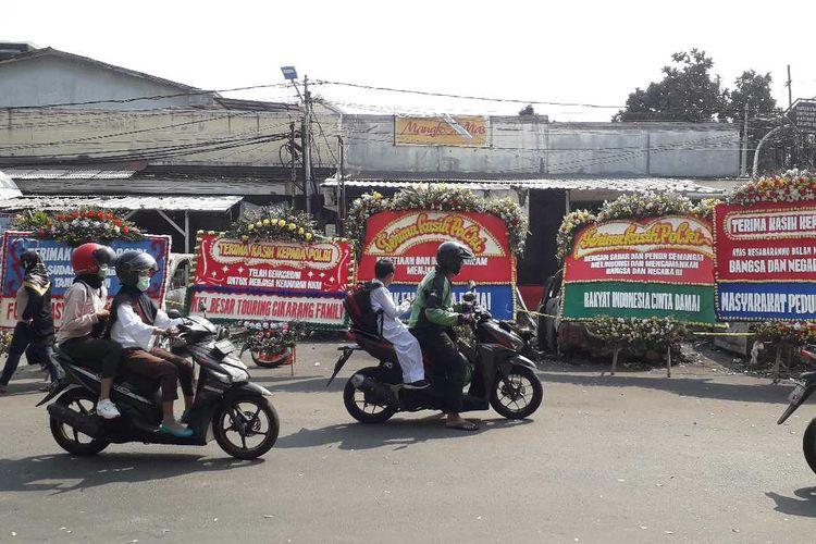 Jalan KS Tubun di Jakarta Barat di sekitar Asrama Brimob Petamburan, sudah bisa dilalui warga Senin (27/5/2019).
