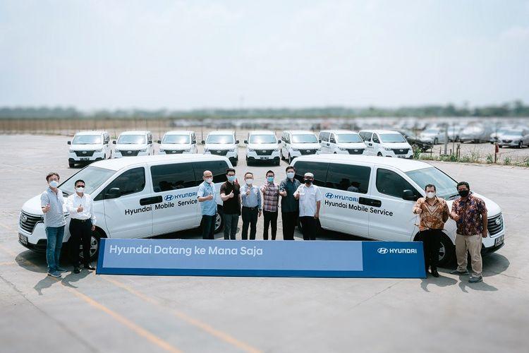 Layanan purnajual Hyundai memungkinkan konsumen bisa melakukan servis di mana saja.