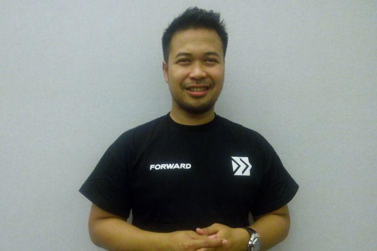 Penggagas Forward, AakarAbyasa Fidzuno berpose di Main Hall KotaKasablanka, Jakarta Selatan, Sabtu (9/3/2019).