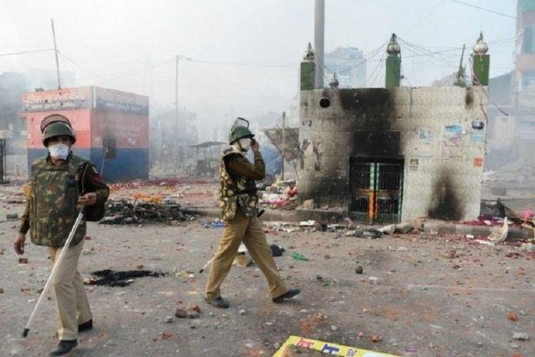 Kerusuhan di India. (AFP)