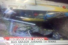 Korban Tewas Bus Masuk Jurang di Puncak Jadi 17 Orang