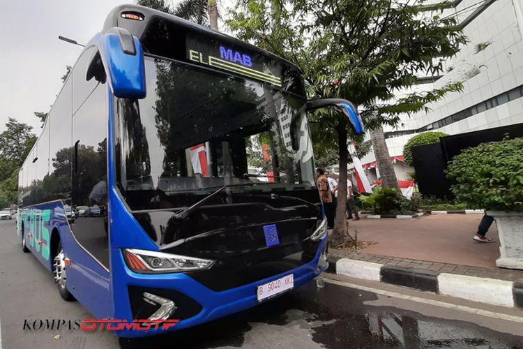 Tes bus listrik MAB dengan Kemenhub di Jakarta