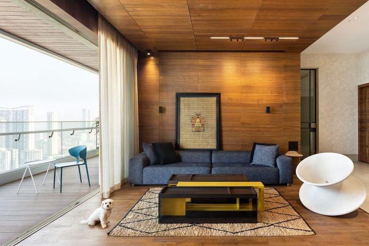 Ilustrasi desain interior apartemen.