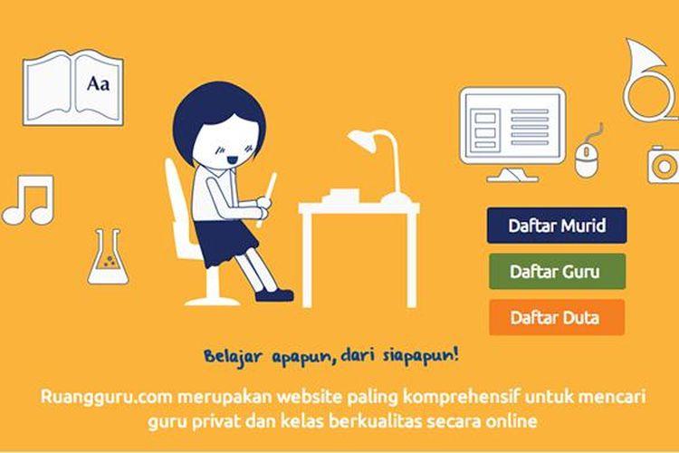 Tampilan situs Ruangguru.com