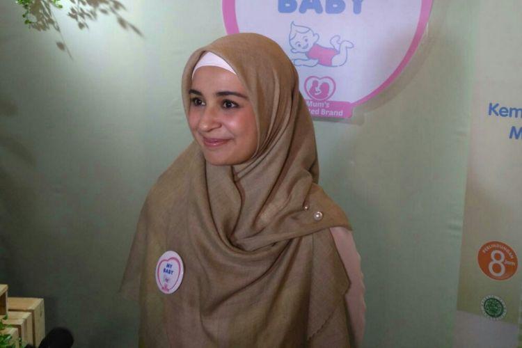 Artis peran Shireen Sungkar saat ditemui dalam sebuah seminar kesehatan anak-anak di kawasan Senayan, Jakarta Pusat, Selasa (19/2/2019).