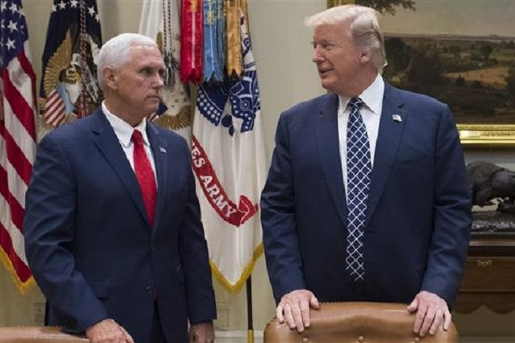 Presiden Amerika Serikat Donald Trump dan Wakil Presiden Mike Pence