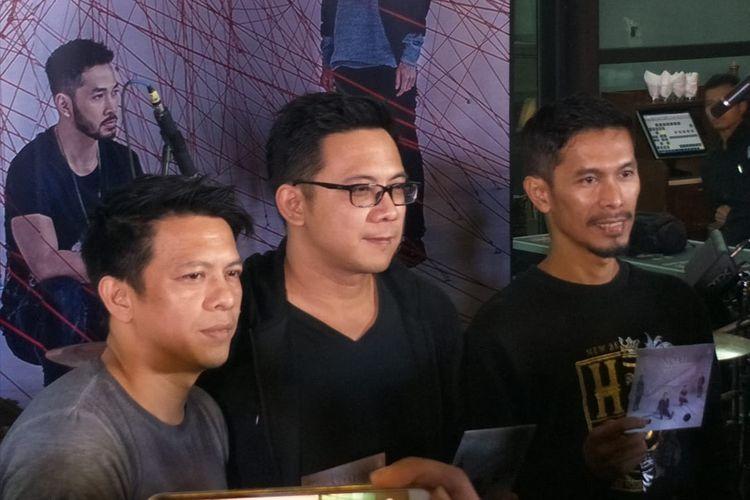 Ariel, David dan Lukman NOAH Saat ditemui di kawasan Kebayoran Baru, Jakarta Selatan, Rabu (14/8/2019).