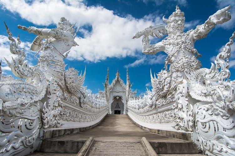 Ilustrasi Thailand - Wat Rong Khun.