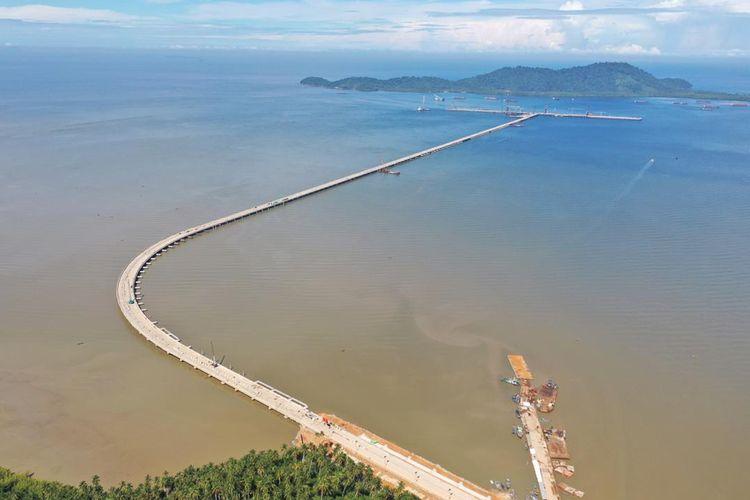 Menyesuaikan struktur dan kedalaman yang dibutuhkan, WIKA membangun trestle sepanjang 3.374 meter.