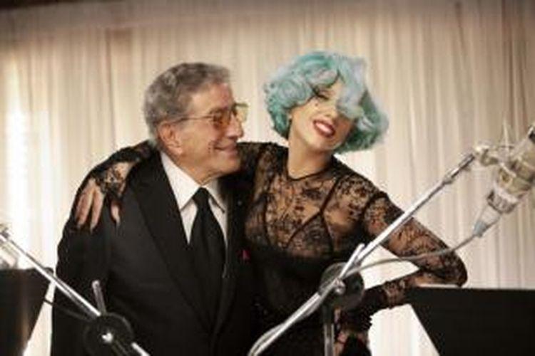 Tonny Bennet bersama Lady Gaga