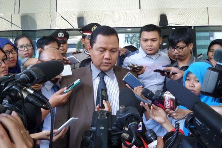 Pengacara Saipul Jamil, Nazarudin Lubis di Gedung KPK, Jakarta, Kamis (16/6/2016).
