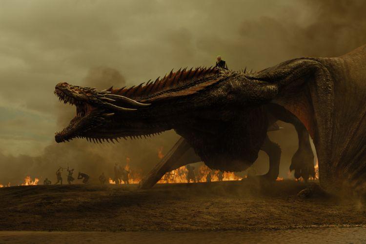 Jika Anda menonton serial kedelapan Games of Thrones Minggu nanti, cermati suara ketiga naganya. Sebab salah satu efek suara diambil dari erangan suara kawin kura-kura raksasa jantan.
