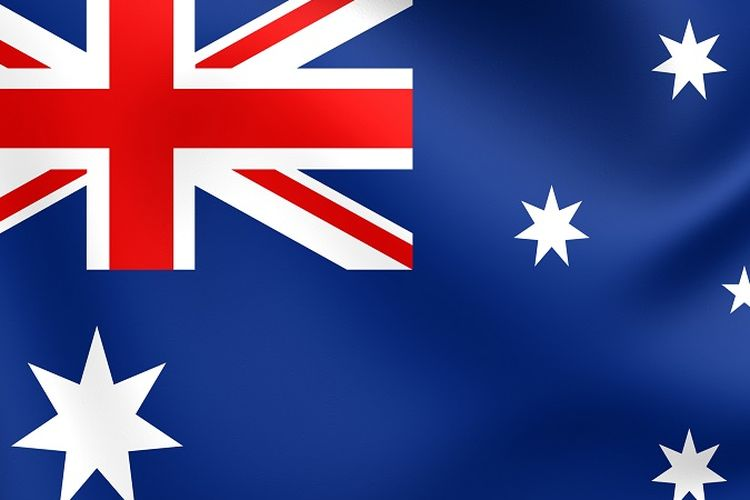 Ilustrasi Bendera Australia.