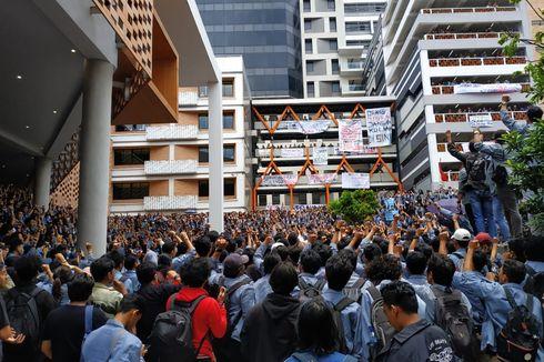 Ribuan Mahasiswa Gunadarma Demo Rektorat, Ini Tuntutan Mereka