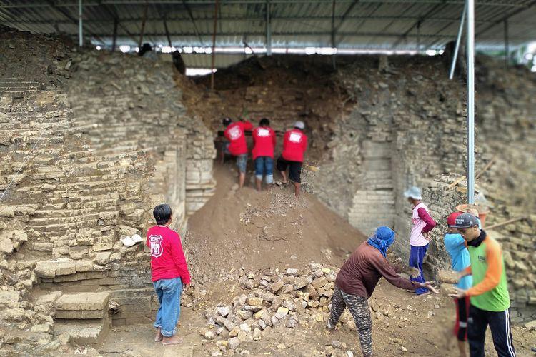 Ekskavasi keempat situs Pataan di Desa Pataan, Kecamatan Sambeng, Lamongan, mulai dikerjakan, Senin (21/9/2020).