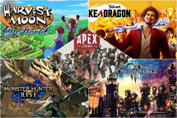 Ilustrasi 5 game menarik yang meluncur Maret 2021.