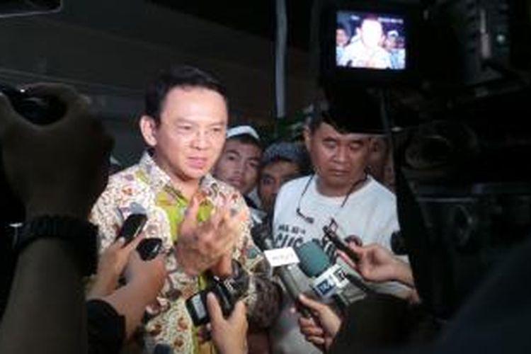 Wakil Gubernur DKI Jakarta Basuki Tjahaja Purnama saat menghadiri Peringatan Haul ke-4 Gus Dur, di Pondok Pesantren Ciganjur, Jakarta Selatan, Sabtu (28/12/2013).