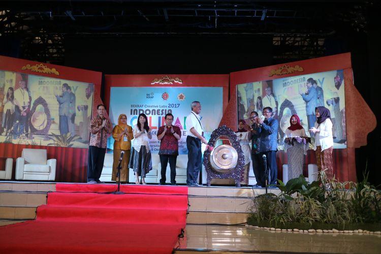 Indonesian Culinary Converence & Creative Expo resmi dibuka, Selasa Rabu (4/9/2017) di Pusat Kebudayaan Koesnadi Hardjasoemantri, Universitas Gajah Mada, Yogyakarta.