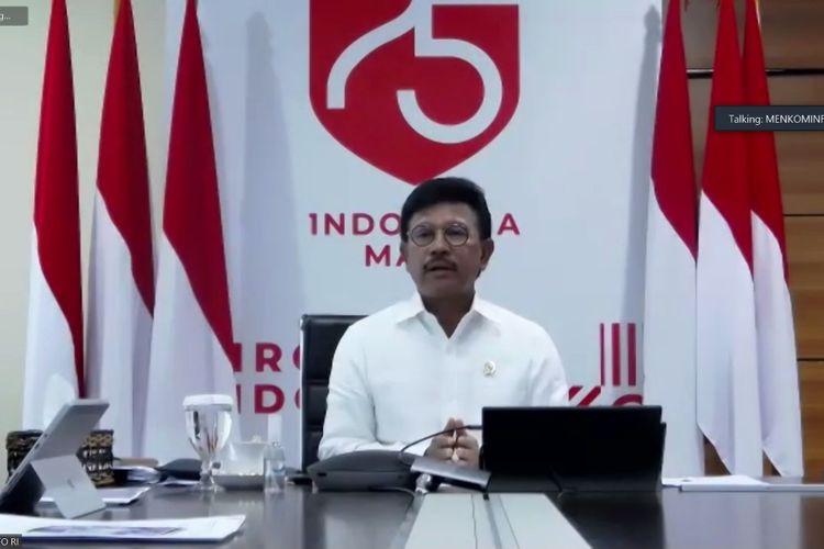 Menteri Komunikasi dan Informatika (Menkominfo) Johnny G. Plate memimpin Rapat Koordinasi dengan Dinas Komunikasi dan Informatika tingkat provinsi se-Indonesia dalam rangka Kampanye Protokol Kesehatan Pencegahan dan Penanganan Covid-19, Kamis (6/8/2020).