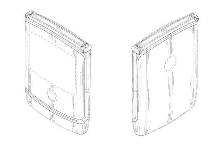 Ilustrasi lipatan ponsel lipat Razr