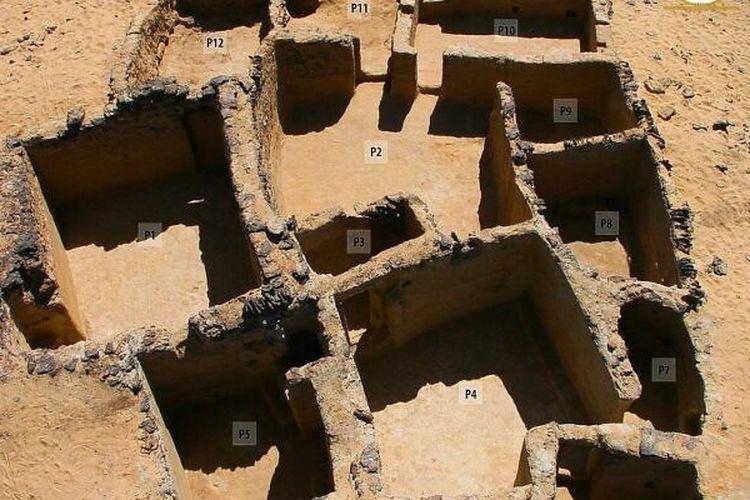 Tim arkeologi Prancis-Norwegia menemukan 19 bangunan dan sebuah gereja yang dihiasi prasasti religius. Penanggalan menunjukkan bangunan ini berasal dari abad kelima M.