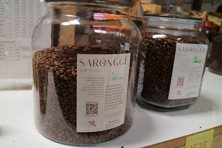Kopi Sarongge kopi asal Cianjur yang meminggalkan rasa manisa saat diminum.