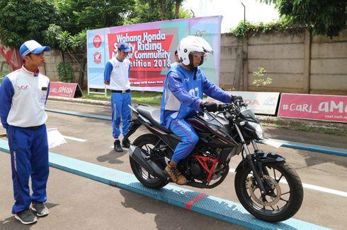 Komunitas Motor Honda Lomba Keselamatan Berkendara