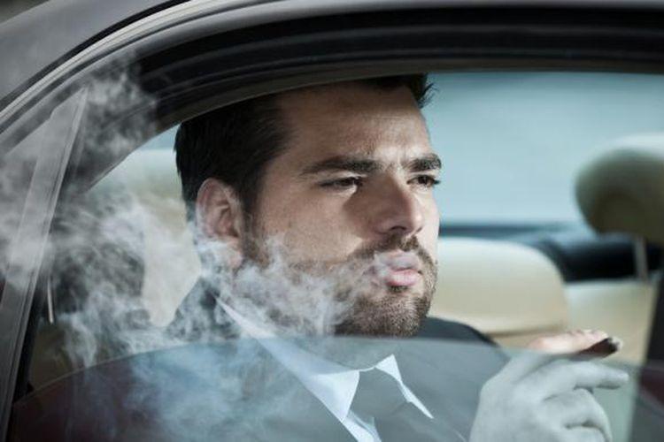 Ilustrasi perokok