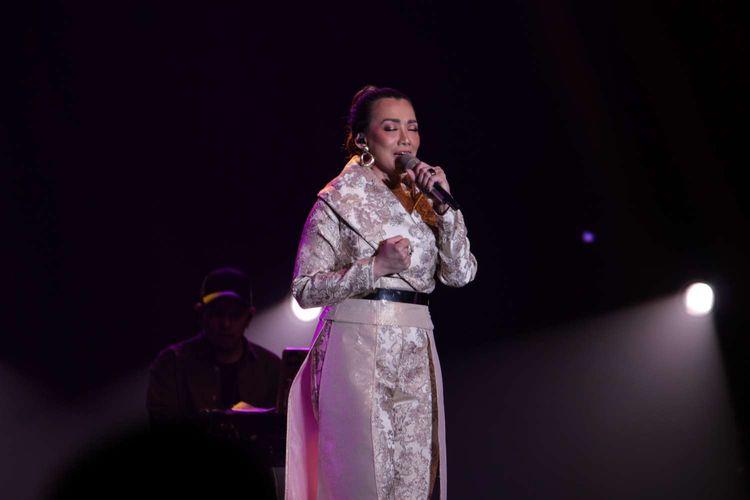 Reza Artamevia tampil di Java Jazz Festival 2020 yang digelar di JIExpo, Kemayoran, Jakarta Pusat, Jumat (29/2/2020).