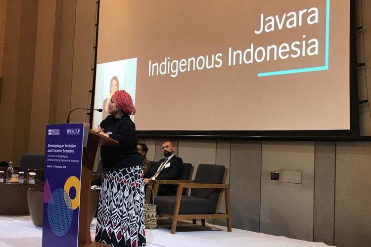 Pendiri dan CEO Javara Helianti Hilman saat di Jakarta, Senin (17/12/2018).