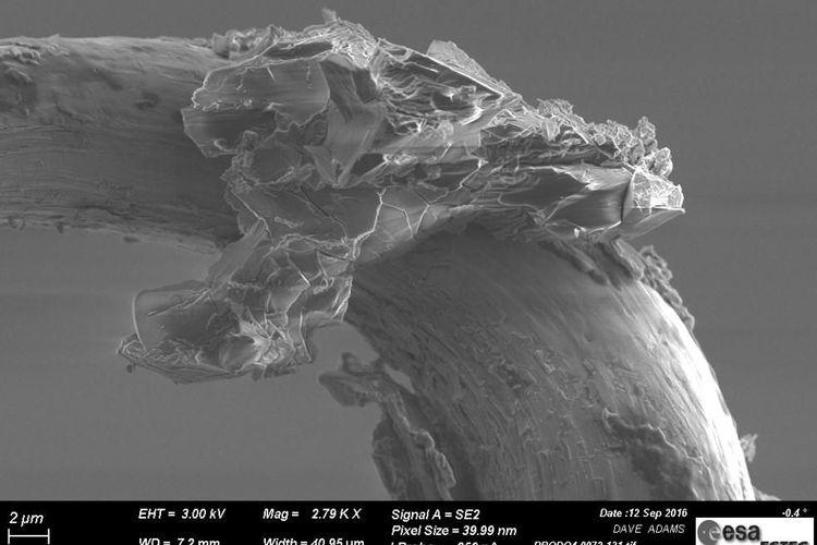 Gambar butir asteroid di bawah mikroskop