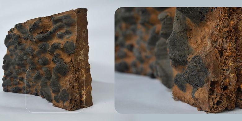 Permukaan bergelombang pada batu bata