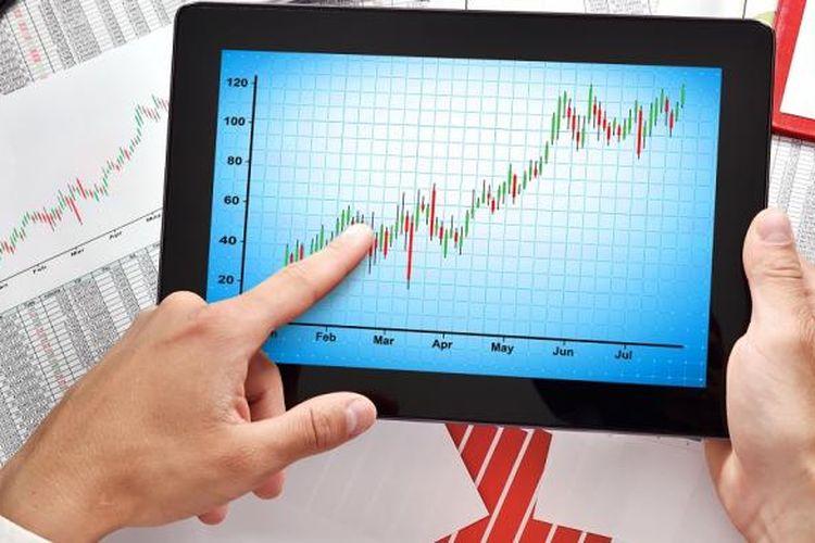 Ilustrasi pergerakan harga saham