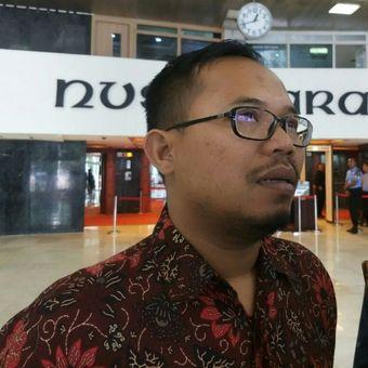 Kepala Humas BPJS Kesehatan Iqbal Anas Maruf di Kompleks Parlemen, Rabu (30/1/2019).