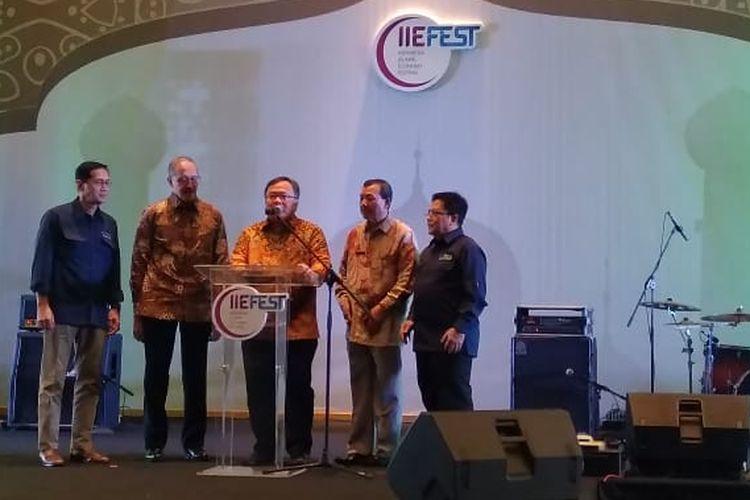 Peresmian Masterplan Ekonomi Syariah Indonesia 2019-2024 (Meksi) di Bandung, Jumat (26/4/2019)
