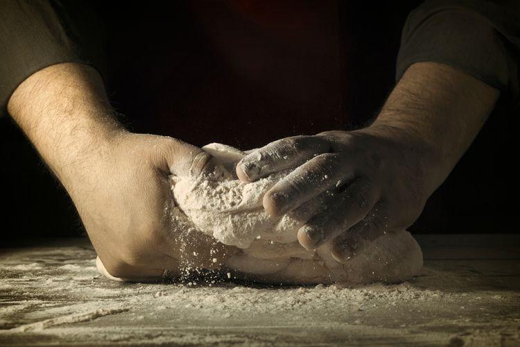 Ilustrasi membuat roti