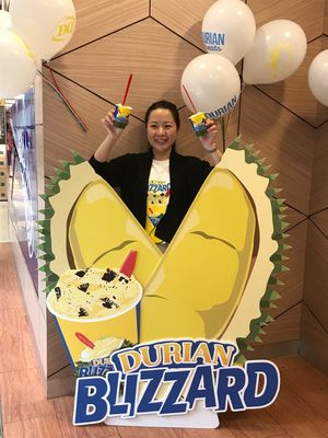 Marketing Manager Dairy Queen, Amelia Kristianto.