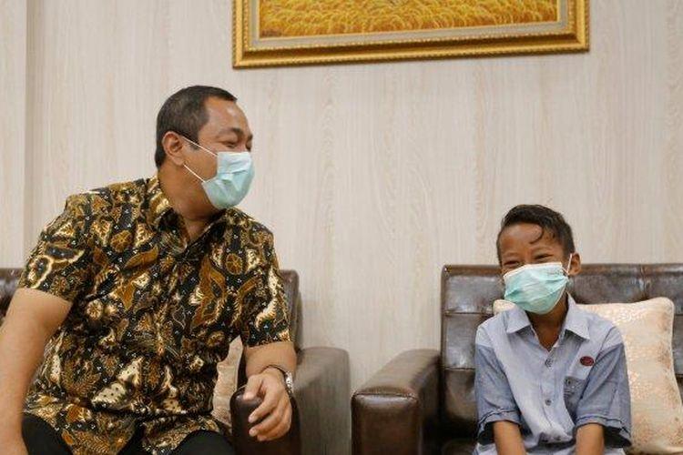 Kaka bertemu Walikota Semarang, Hendrar Prihadi di kantornya, Senin (29/3/2021