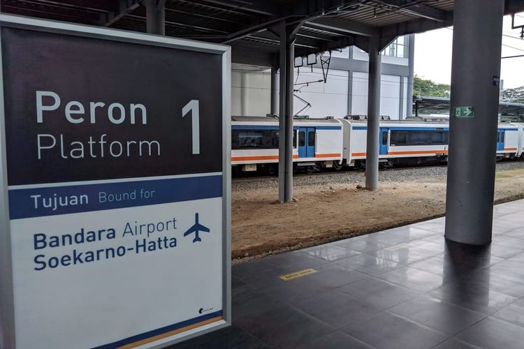 Stasiun Batu Ceper, Kota Tangerang, Kamis (28/11/2019)