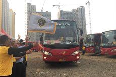 Pemkot Bekasi Berangkatkan Bus Mudik Gratis