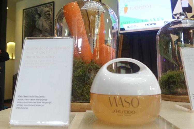 Clear Mega Hydrating Cream, salah satu produk Waso yang diluncurkan Shiseido, Kamis (25/1/2018). Produk ini berbahan dasar wortel.